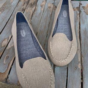 Dr. Scholl's Beige Canvas Slip On Shoes Size 8.5M